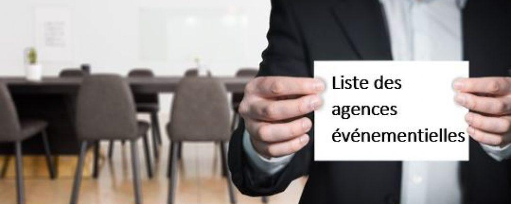 Liste des agences événementielles